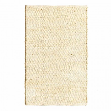 Modern and Colorful Design Living Room Rug Hand-woven in Jute - Melino