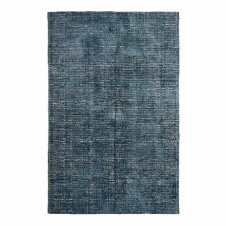 Living Room Carpet in Cotton, Viscose and Wool Produced on Manual Loom - Melita