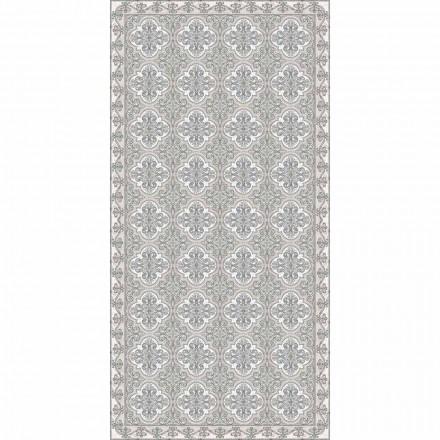 Modern Living Room Carpet with Majolica Fantasy in Rectangular Vinyl - Costa