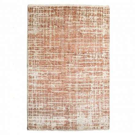 Modern Hand-Woven Living Room Rug in Wool and Cotton - Neppo