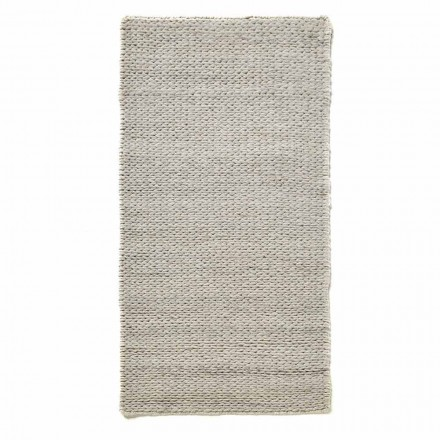 Modern Hand-Woven Living Room Rug in Polyester and Cotton - Tabatha