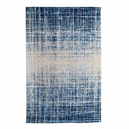 Design Rectangular Living Room Rug in Polyester and Cotton - Style