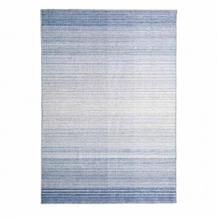 Rectangular Living Room Rug Hand Woven in Polyester and Cotton - Zonte