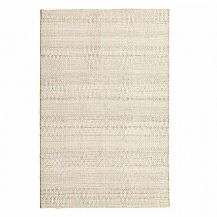 Hand Woven Living Room Rug in Wool and Cotton Modern Design - Rivet
