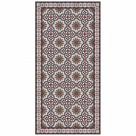 Design Rectangular Living Room Carpet in PVC and Polyester - Coria