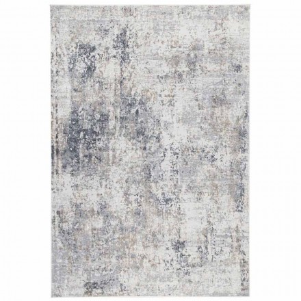 Design Beige Carpet with Drawing in Viscose and Polyester - Occitania
