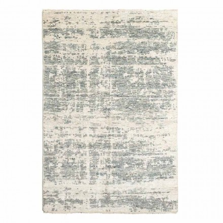 Hand-Woven Design Rug in Wool and Cotton for Living Room - Copper
