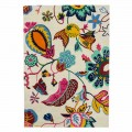 Carpet Handmade in India in Wool and Cotton with Colored Fantasy - Atomic