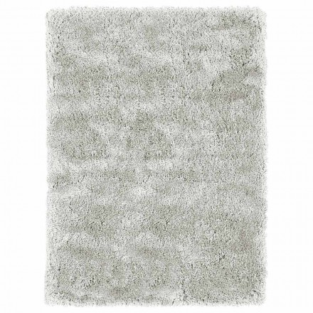 Modern Design Big Longhaired Carpet in Coloured Silk and Cotton - Etesia
