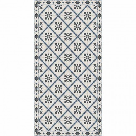 Modern Rectangular Living Room Vinyl Rug - Berimo