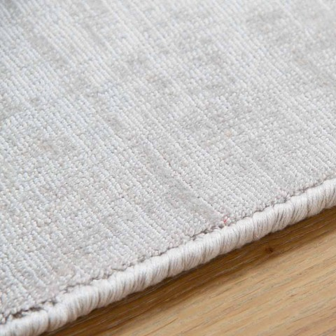 Customizable Versatile Viscose and Cotton Rug - Mutter