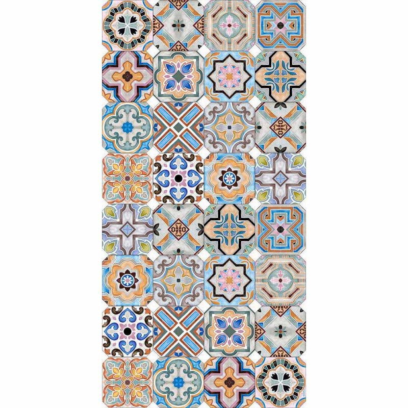 Modern Carpet with Colored Majolica in Vinyl for Living Room - Calor
