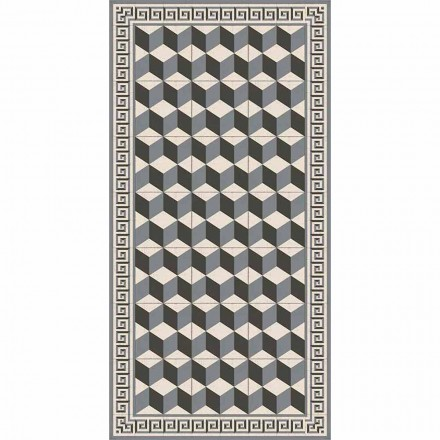 Modern Living Room Carpet in Pvc and Polyester with Geometric Pattern - Romio