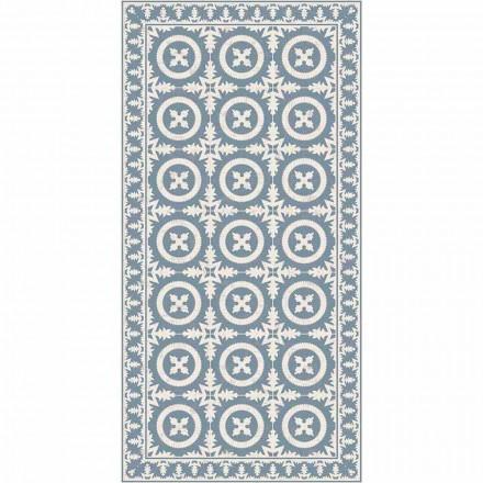 Modern Living Room Carpet in Beige or Blue Fantasy Vinyl - Bondo