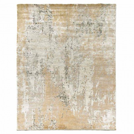 Modern Design Elegant Carpet for Living Room in Bamboo Silk and Wool - Pasha