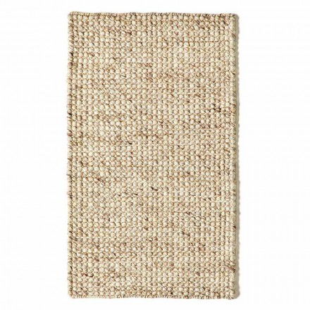 Modern Hand Woven Wool and Cotton Living Room Rug - Wreck