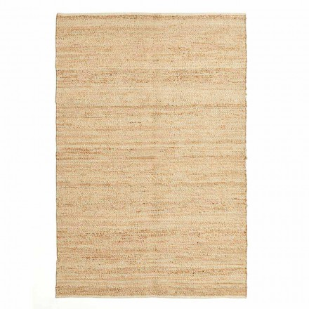 Rectangular Rug in Wool, Jute and Cotton Modern Design for Living Room - Remino