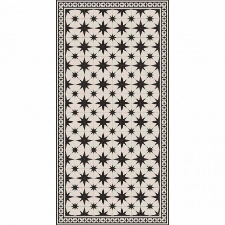 Modern Design Rectangular Vinyl Rug with Fantasy - Osturio