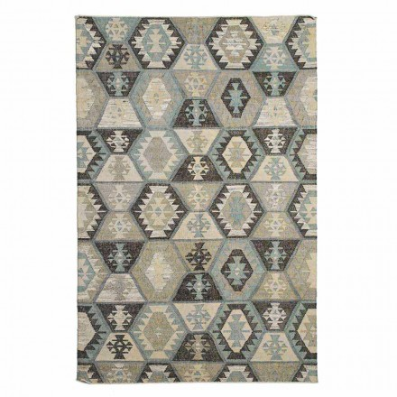Modern Design Patterned Wool and Cotton Living Room Rug - Ratta