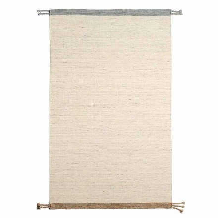 Rectangular Living Room Rug in Wool and Cotton Versatile and Modern Design - Dimma