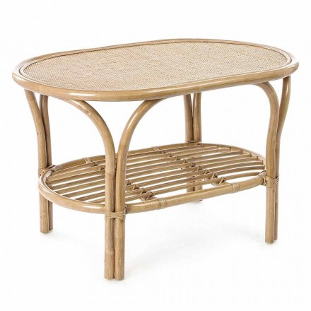 Outdoor Garden Coffee Table in Natural Rattan for Outdoor - Maurizia
