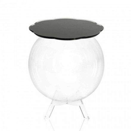 Black storage side table with a modern design Biffy, made in Italy