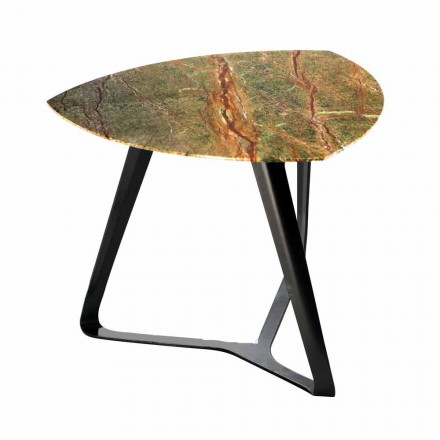 Handcrafted Coffee Table with Luxury Marble Top Made in Italy - Royal