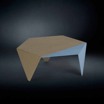 Coffee table in two-tone metal design Coffee laser cut Ruche