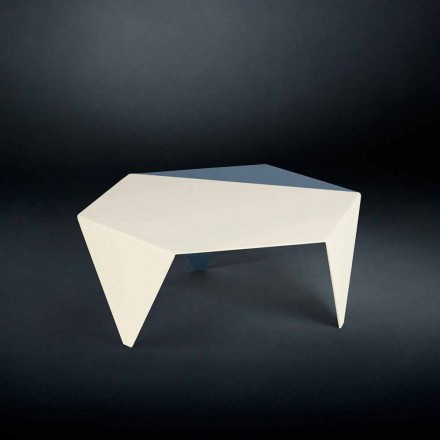 Bicolor laser cut metal coffee table Ruche, modern design