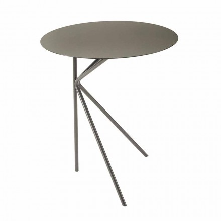 Round Metal Coffee Table, Design in Various Colors and 2 Sizes - Olesya