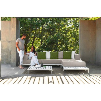 Aluminum Rectangular Outdoor Coffee Table - Cleo Alu by Talenti