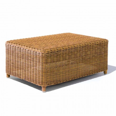 Garden Coffee Table in Woven Synthetic Rattan - Yves