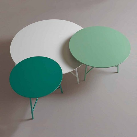 Colorful Modern Round Design Coffee Table for Living Room - Boogie