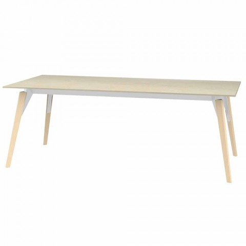 Coffee Table Marble Effect Top, 3 Colors 2 Sizes - Faz Wood by Vondom