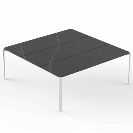 Square Garden Coffee Table, Marble Effect Top - Tablet by Vondom