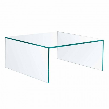 Rectangular Coffee Table in Extralight Glass Made in Italy - Nodino