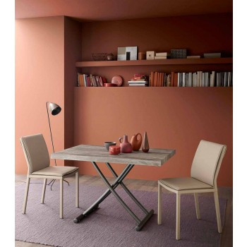 Coffee Table Convertible into a Made in Italy Design Kitchen Table - Genio