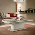 Transforming Coffee Table in Glass and Steel Made in Italy - Silvestro