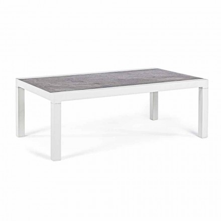 Outdoor Coffee Table with Ceramic Top and Aluminum Structure - Softy