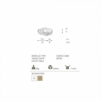Breez modern design outdoor coffee table, white or dove gray