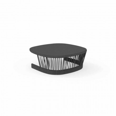 Cliff outdoor table by Talenti, in cord and aluminum,design by Palomba
