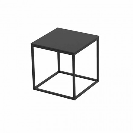 Outdoor Coffee Table in Aluminum and Square Black Laminate - Suave by Vondom