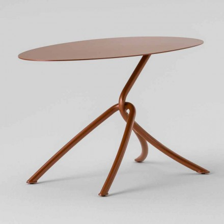 Precious Outdoor Coffee Table in Painted Metal Made in Italy - Lubeck