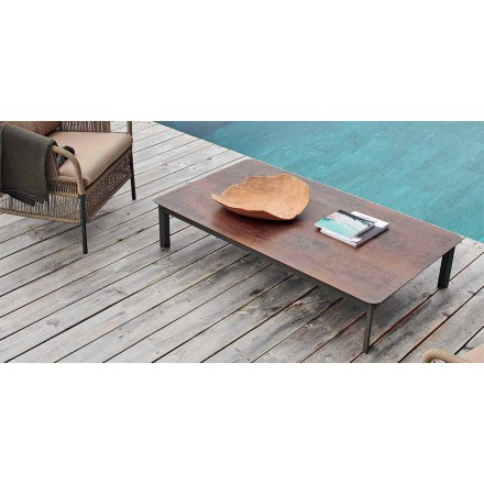 Design outdoor table made of painted aluminum System by Varaschin