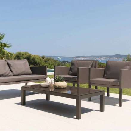 Outdoor coffee table Step by Talenti, covered in textilene