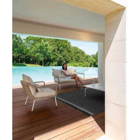 Calacatta Gres Modern Design Garden Coffee Table - Cruise Alu by Talenti