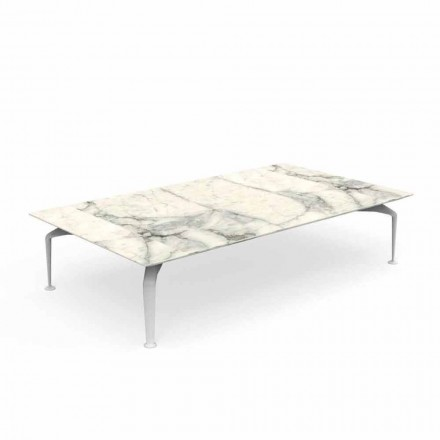 Calacatta Gres Modern Design Garden Coffee Table - Cruise Alu by Talenti