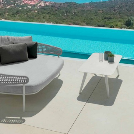 Moon Alu outdoor table by Talenti, 110x60cm with porcelain stoneware