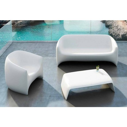 Garden coffee table made with polyethylene Blow Vondom, modern design