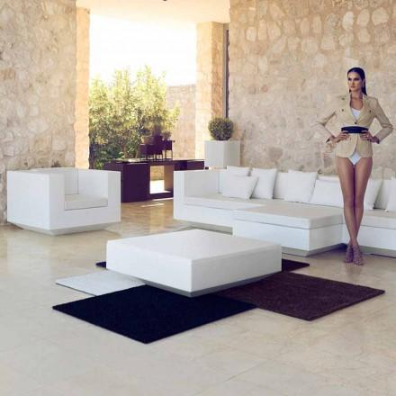 Garden square coffee table Vela Vondom, modern design in polyethylene
